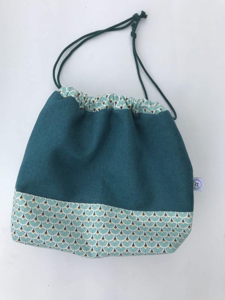b11e3569 Strikkepose – turkis vifte – Kreativ mormor